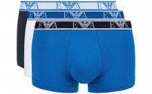Boxerky 3 ks Emporio Armani | Modrá Bílá | Pánské | S