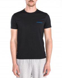 Spodní triko 2 ks Emporio Armani | Černá Modrá | Pánské | S