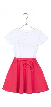 Šaty dětské Guess | Růžová Bílá | Dívčí | 12 let