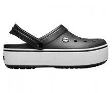 Crocs Pantofle Crocband Platform Clog Black/White 205434-066 37-38