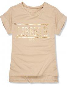 Béžové tričko Liberté Paris