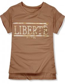 Hnědé tričko Liberté Paris