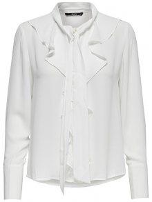 ONLY Dámská košile New Intu Ls Frill Shirt Wbn White 40