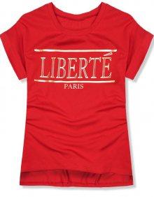 Červené tričko Liberté Paris