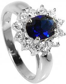Brilio Silver Stříbrný prsten s modrým krystalem 5121615S 52 mm