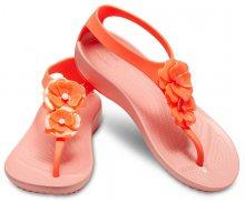 Crocs Dámské žabky Serena Embellish Flip W 205600-6PT Bright Coral/Melon 34-35