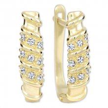 Brilio Dámské zlaté náušnice s krystaly 239 001 00980 - 2,10 g