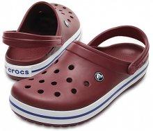 Crocs Pantofle Crocband Garnet/White 11016-6MS 46-47