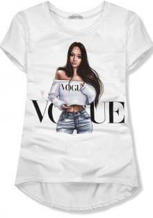 Bílé tričko VOGUE girl