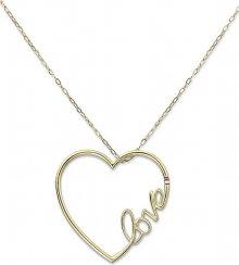 Tommy Hilfiger Dlouhý ocelový náhrdelník se srdcem TH2700908