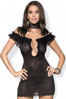 Erotická košilka Diamond chemise black