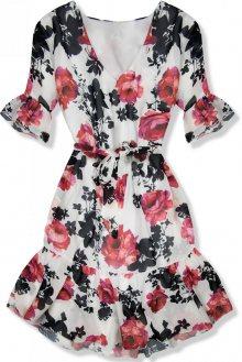 Květinové šaty s volány Simone