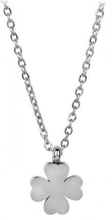 Troli Ocelový náhrdelník Čtyřlístek