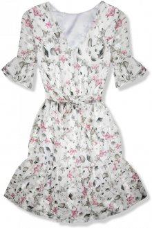 Květinové šaty s volány Rafaela