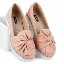 Trendy  baleríny dámské růžové bez podpatku