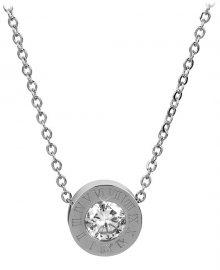 Troli Ocelový náhrdelník s třpytivým přívěskem 30 silver