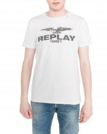 Triko Replay | Bílá | Pánské | S