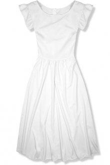 Bílé elegantní midi šaty
