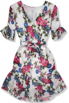 Květinové šaty s volány Carmen