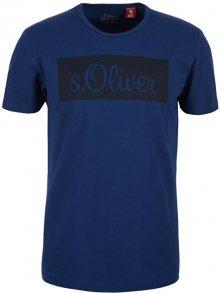 s.Oliver Pánské triko 13.904.32.4800.5639 Tile Blue M