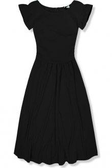 Černé elegantní midi šaty