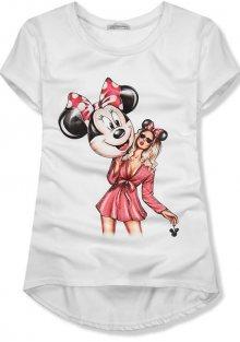 Bílé tričko Mickey girl