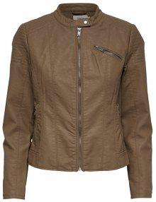 ONLY Dámská bunda Flora Faux Leather Jacket Cc Otw Cognac 36