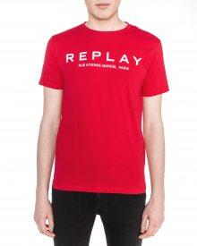 Triko Replay | Červená | Pánské | S
