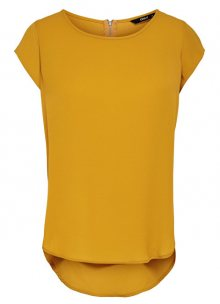 ONLY Dámská halenka Vic S/S Solid Top Noos Wvn Golden Yellow 36
