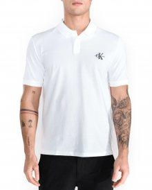 Polo triko Calvin Klein | Bílá | Pánské | L