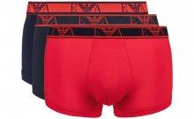 Boxerky 3 ks Emporio Armani | Modrá Červená | Pánské | S