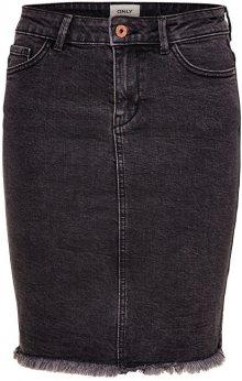 ONLY Dámská sukně Lelila Reg Rawedge Dnm Skirt 09Noos Medium Grey Denim 36