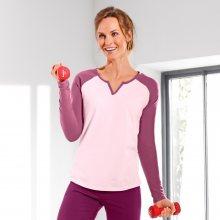 Dvoubarevné tričko s raglánovými rukávy růžová 42/44