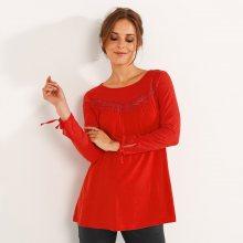 Tričko s výšivkou červená 52