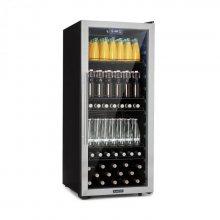 Klarstein Beersafe 7XL, chladnička na nápoje, 242 l, A +, sklo, ušlechtilá ocel