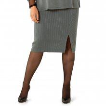 Dlouhá pletená sukně šedá 42/44