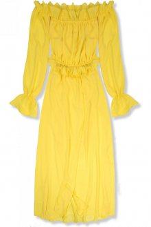 Žluté letní dlouhé šaty