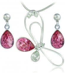 MHM Souprava šperků Debia Rose 34133 (náušnice, řetízek, přívěsek)
