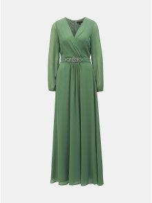 Zelené maxišaty s průsvitnými rukávy Dorothy Perkins