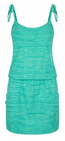 LOAP Dámské šaty Bama Cockatoo Green Allover CLW1938-P42PY XS