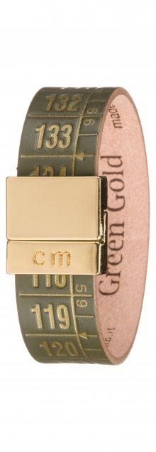 Green Gold Náramek Il Centimetro | Zelená Zlatá | Pánské | M 20 cm
