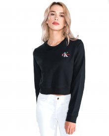 Monogram Mikina Calvin Klein | Černá | Dámské | L