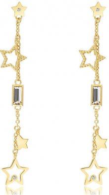 Brosway Hvězdičkové pozlacené náušnice s krystaly Chant BAH22