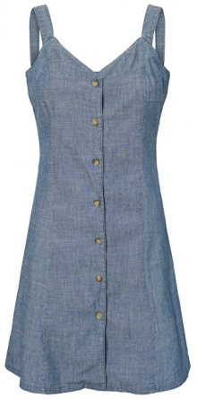 Vero Moda Dámské šaty Samantha Chamb Shirt Button Dress Ga Dark Blue Denim S