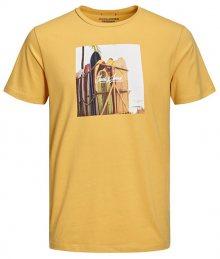 Jack&Jones Pánské triko Jorhotel Tee Ss Crew Neck Yolk Yellow S