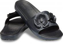 Crocs černé pantofle Sloane Vivid Blooms Slide Black - W6
