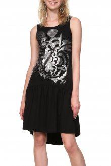 Desigual černé šaty Vest Omahas - M