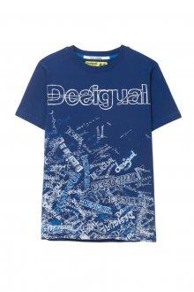 Desigual modré chlapecké tričko TS Lirio - 7/8