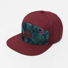 5 Panel Caps Delray Beach in red Standardní