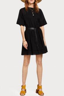 Scotch & Soda černé šaty s průstřihem na zádech - XS